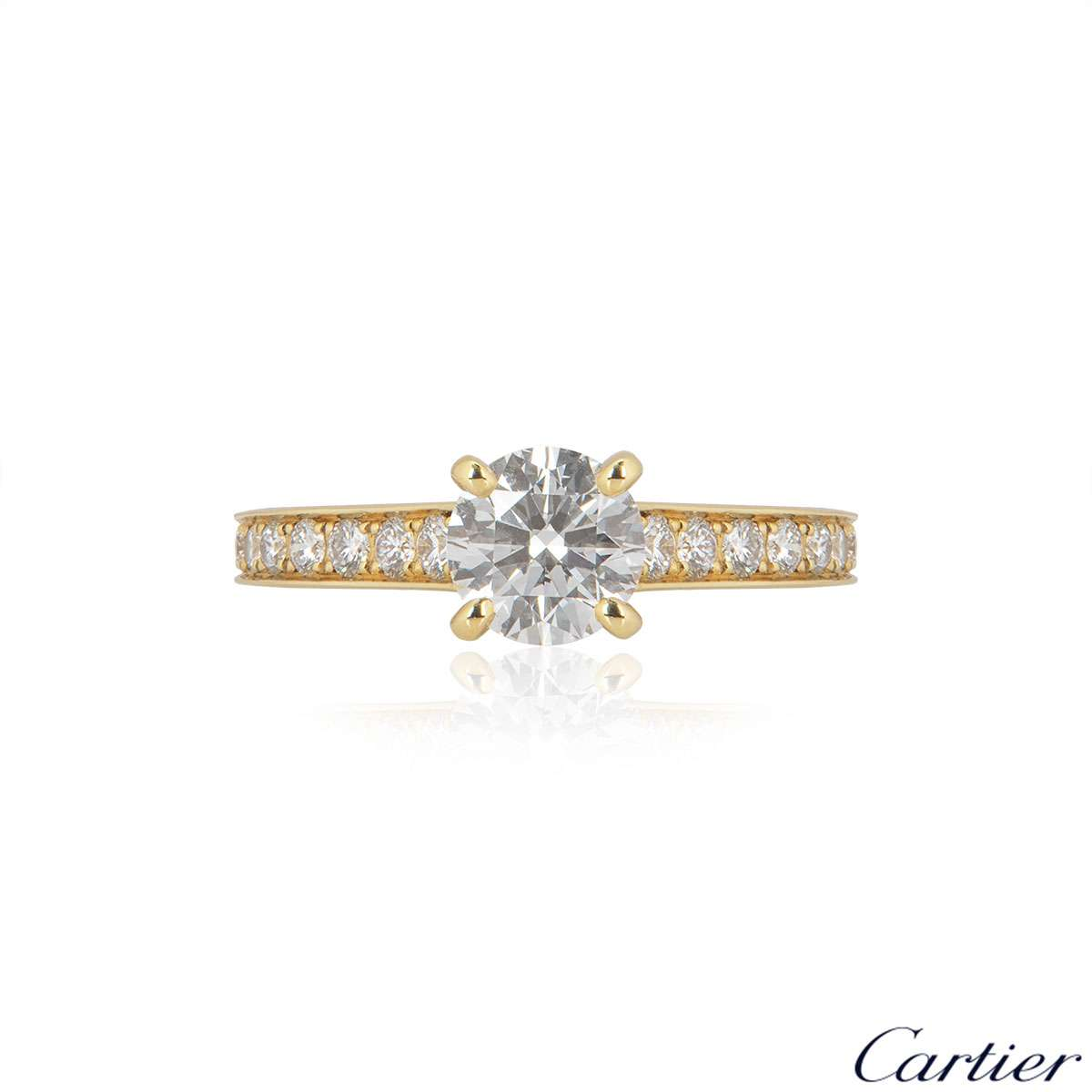 Cartier Solitaire 1895 Diamond Ring 1.06ct H/VVS1 XXX